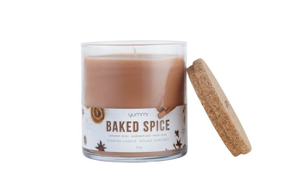 baked spice candle