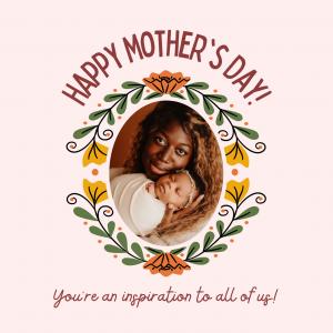 Carte de vœux personnalisée pour fête des mères